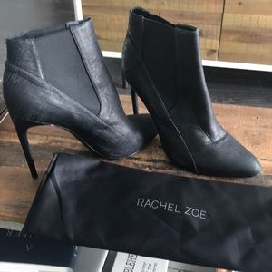 Beautiful Black Rachel Zoe booties! Size 9.